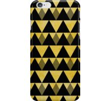 Gold glitter black triangles warm color iPhone Case/Skin