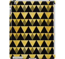 Gold glitter black triangles warm color iPad Case/Skin