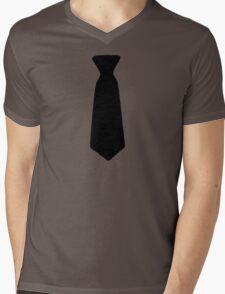 Neck Tie Black Mens V-Neck T-Shirt