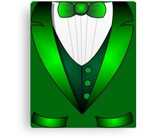 leprechaun suit st patricks day green Irish tuxedo Canvas Print