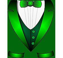 leprechaun suit st patricks day green Irish tuxedo Photographic Print