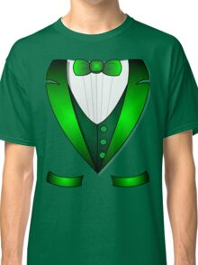 leprechaun suit st patricks day green Irish tuxedo Classic T-Shirt