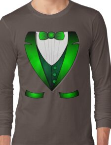leprechaun suit st patricks day green Irish tuxedo Long Sleeve T-Shirt