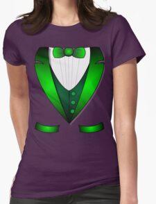 leprechaun suit st patricks day green Irish tuxedo Womens Fitted T-Shirt
