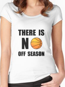 No Off Season Basketball Women's Fitted Scoop T-Shirt