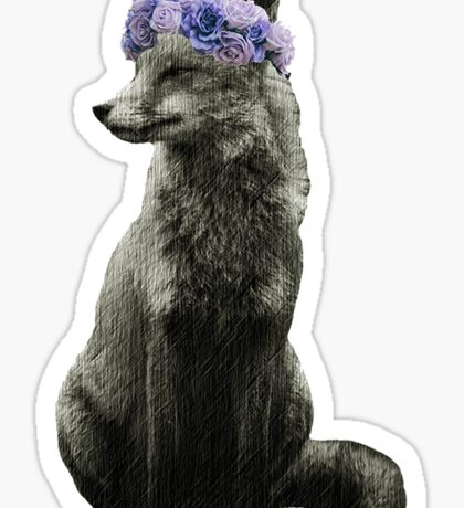 Fox goddess of nature Sticker