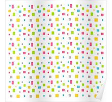 Color round cubes background Poster