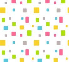 Color round cubes background Sticker