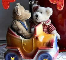 Happy Valentine's Day Bears by June Holbrook