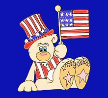 Patriotic Teddy Bear by J-CCreations