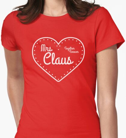 Mrs Claus Womens Fitted T-Shirt