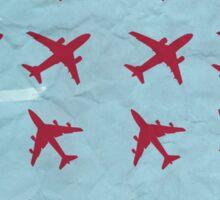 Retro airplanes Sticker