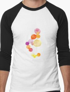 Watercolor magical circles Men's Baseball ¾ T-Shirt