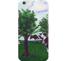 Grazing Wisconsin Cows iPhone Case/Skin