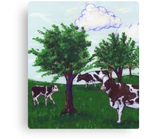 Grazing Wisconsin Cows Canvas Print