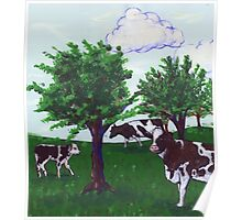 Grazing Wisconsin Cows Poster