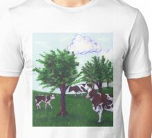 Grazing Wisconsin Cows Unisex T-Shirt