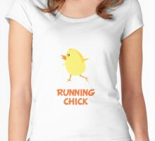Running Chick Women's Fitted Scoop T-Shirt