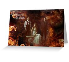 TVD - Damon, Stefan, Elena Greeting Card