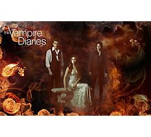 TVD - Damon, Stefan, Elena Photographic Print