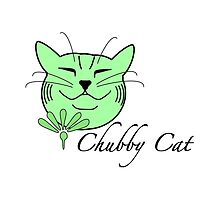 Green Chubby Cat - I love my chubby cat don't you by offwhitelimo