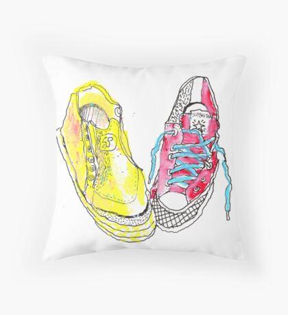 sneakers romance Throw Pillow