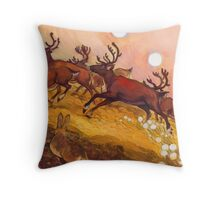 yukon caribou Throw Pillow