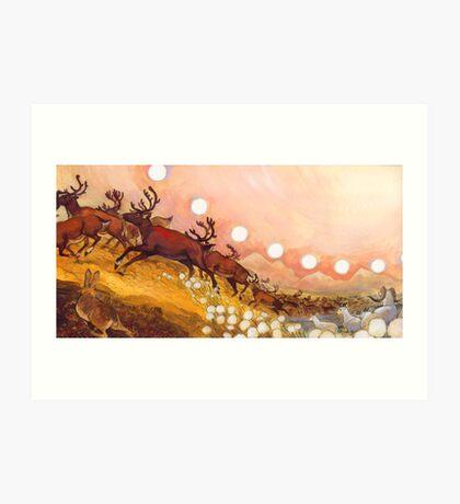 yukon caribou Art Print