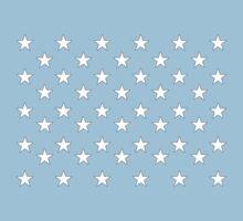 STARS, Stars of the American Flag, Star spangled, White stars, American Flag, Stars & Stripes, America, USA Baby Tee