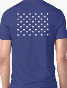 STARS, Stars of the American Flag, Star spangled, White stars, American Flag, Stars & Stripes, America, USA Unisex T-Shirt