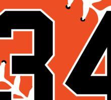 No. 34 Orange Baseball (Roar) Sticker