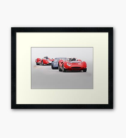 Vintage Racecars 'Tight Turn 11' Framed Print