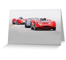 Vintage Racecars 'Tight Turn 11' Greeting Card