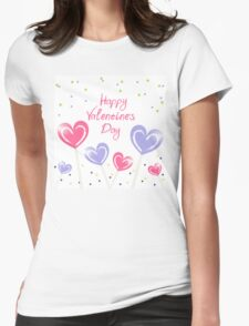 Happy Valentine's Day, love, heart, text T-Shirt