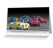 Vintage Racecars 'Lap Leader' Greeting Card