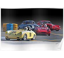 Vintage Racecars 'Lap Leader' Poster