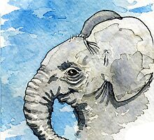 Baby Elephant by Dan Paul  Roberts