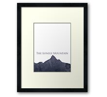 The Hobbit - The Lonely Mountain Framed Print