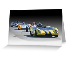 Vintage Racecars 'Home Stretch' Greeting Card
