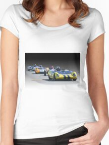 Vintage Racecars 'Home Stretch' Women's Fitted Scoop T-Shirt