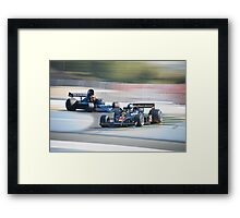 Vintage Formula One Racecars 'F1 Competition' Framed Print