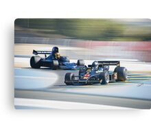 Vintage Formula One Racecars 'F1 Competition' Canvas Print