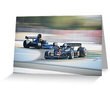 Vintage Formula One Racecars 'F1 Competition' Greeting Card