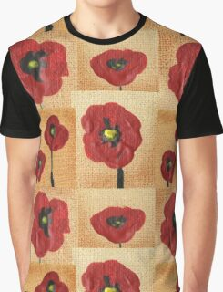 Collage With Red Poppies Graphic T-Shirt