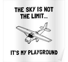 Sky Playground Plane Poster