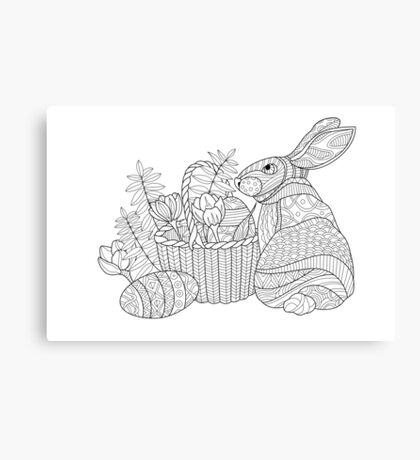 Easter Bunny Drawing Canvas Print