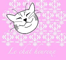 Le Chat Heureux - The happy cat by offwhitelimo