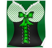 St patricks day vintage Irish traditional leprechaun corset  Poster