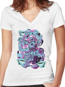 The white rabbit Women's Fitted V-Neck T-Shirt