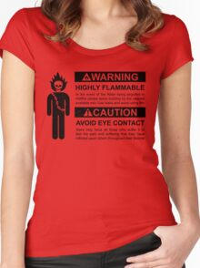 Warning: Highly Flammable - Variant Women's Fitted Scoop T-Shirt